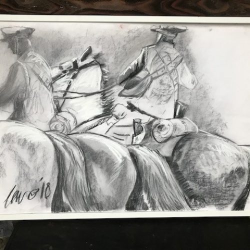 Cavalry CHARGE! The latest drawing in this series of 10. Remembering the fallen horses of World War 1