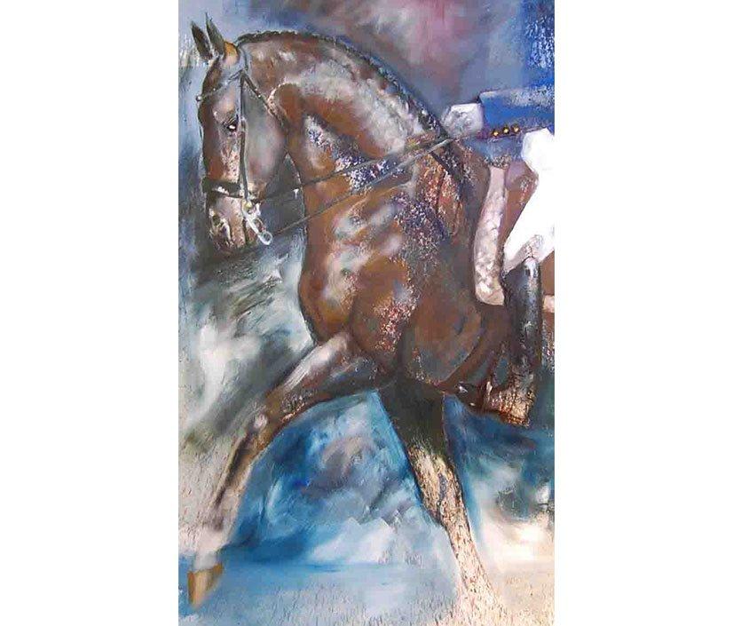 Dressage Test / Oil on Canvas / 152 x 92cm / 2010