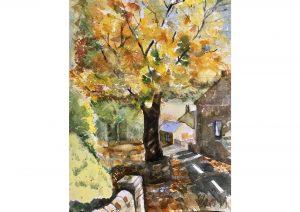 Autumn Tree in Shepley /Watercolour on Rough Paper /38cm x 30 cm /£250