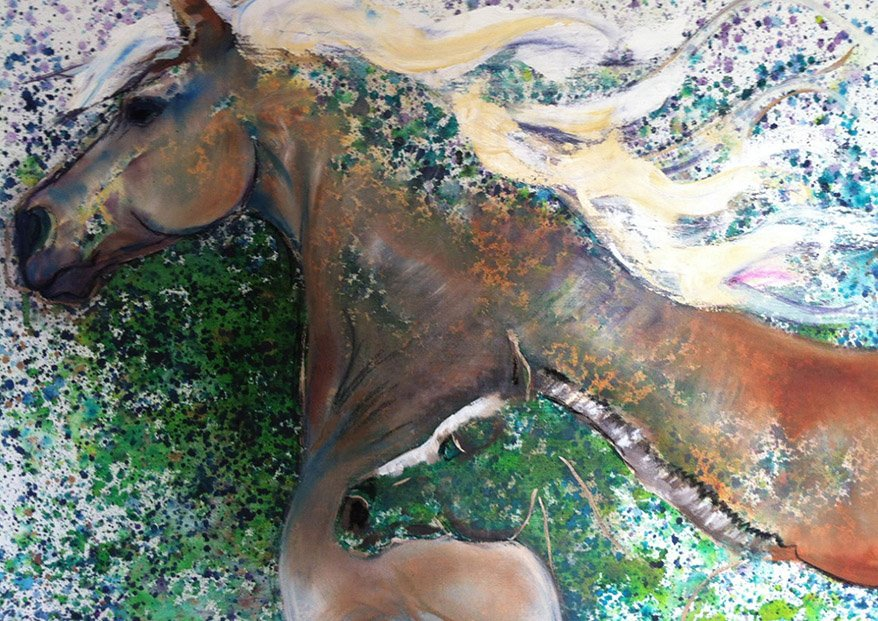 Mare & Foal /Oil on Canvas /100 cm x 78 cm /In Private Collection