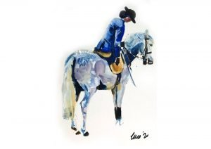 Side Saddle /Oil on Paper /20 cm x 30 cm /£150 /Available to purchase